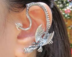 ear wraps ear wrap ear cuff silver elfin earwrap
