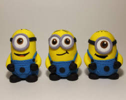 minions cake toppers minion fondant edible cake topper set of 3 figures minion