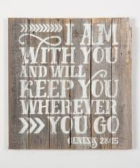 another great find on zulily genesis 28 15 wood sign by