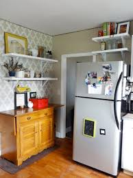 top of fridge storage ideas for using that awkward space above the fridge apartment therapy