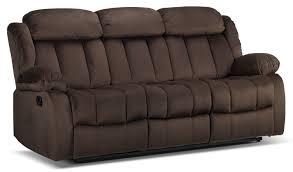 alabama reclining sofa deep brown leon u0027s