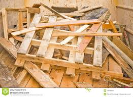 scrap wood in a recycling skip stock photo image 14188092
