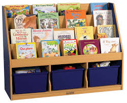 book storage ecr4kids colorful essentials 3 compartment storage book display