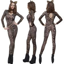 cheetah jumpsuit printed skin jumpsuit fancy dress costume
