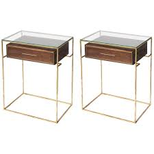 Floating Drawer Nightstand Pair Of Floating Drawer Side Tables Bedside Tables For Sale At