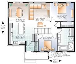 modern bungalow floor plans house plan w3131 v2 detail from drummondhouseplans com