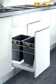 Kitchen Cabinet Trash Trash Cans Simplehuman Pull Out Recycler Trash Can 9 Gallons 35l