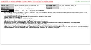 Sample Truck Driver Resume by 88m Truck Driver Resumes Samples