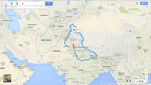 Map Of Nepal And Tibet by Even Google Maps Knows How Dysfunctional India Pakistan Relations