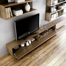 Tv Wall Furniture Contemporary Tv Wall Unit Wooden La Sala Carre Furniture