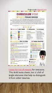 Simple Form Of Resume Latest Resume Formats Today If You Want To Get A Job Offer You