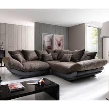 Wohnzimmer Ideen Braune Couch Ecksofa Tender Kunstleder Schwarz Stoff Braun Meliert صالون