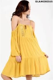 buy women u0027s dresses glamorous yellow shift from the next uk online