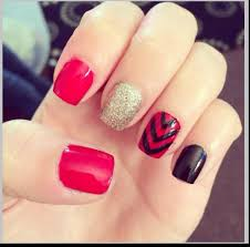 easy red nail designs image collections nail art designs