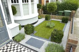 white pebble space for small garden designs decorating ideas