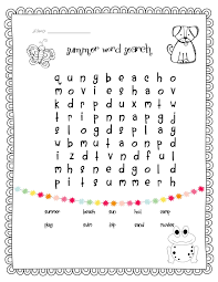 summer word search temple u0027s teaching tales for the classroom