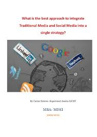 what is the best approach to integrate traditional media and social m u2026