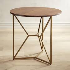 Brass Accent Table Wood Brass Accent Table