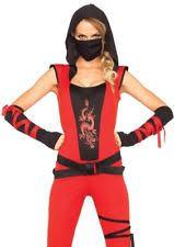 Assassin Halloween Costumes Women U0027s Ninja Fancy Dress Ebay