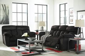 Black Fabric Reclining Sofa by Furnituremaxx Saul Contemporary Black Microfiber Reclining Sofa