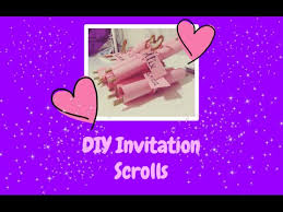 scroll invitations diy diy invitation scrolls megan arty
