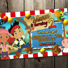 jake and the neverland birthday jake and the neverland birthday invitation party photo