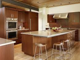 Kitchen Island Drawers Varnished Brown Wooden Kitchen Island With Drawers Combined With