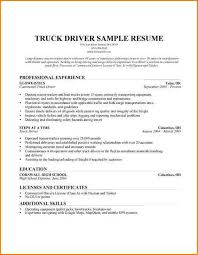 Resume Truck Driver Sample by Warehouse Delivery Driver Cover Letter