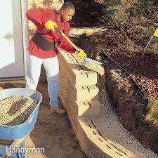 incredible building a garden wall with concrete blocks how to