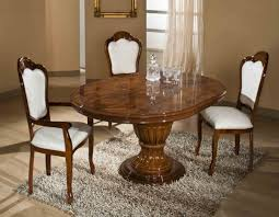 modrest elizabeth round extendable dining table made in italy