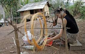 learn how silk is made in laos travel feature guides