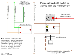headlight dimmer switch wiring diagram painless exceptional