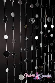 mirror room divider mirrored backdrop hanging circles mirrored curtain or room divider