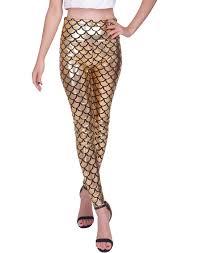 hde women u0027s high waisted shiny mermaid leggings liquid metallic