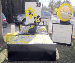 black white and yellow bedroom black and white and yellow bedroom