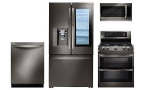 stainless kitchen appliance packages lg black stainless appliance package abt com