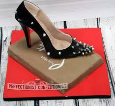 shoe cake topper the perfectionist confectionist nicola black spiked louboutin