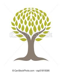tree with roots vector illustration vector search clip
