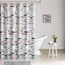Coral And Grey Shower Curtain Shower Curtains Shop The Best Deals For Dec 2017 Overstock Com
