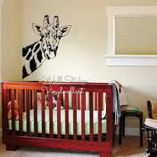 stickers animaux chambre b bébé pépinière girafe wall sticker girafe sticker animaux wall