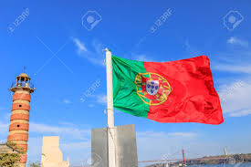 Vasco Da Gama Flag Symbols And Icons In Lisbon City Belem Lighthouse Flag Of