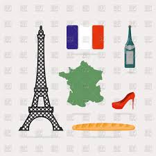 Wine Map Of France by Symbols Of France Eiffel Tower Map Of Country Flag Red Shoes