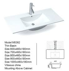 bathroom sink size guide bathroom sink size guide different thin rectangular cabinet basin