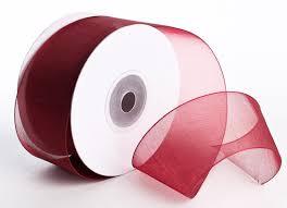 organza ribbon burgundy organza ribbon ribbon and trims craft supplies