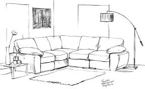 How To Draw A Bed How To Draw A Sofa Step By Step Arcmel Com