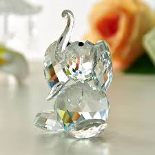 h d x gifts clear elephant glass figurines crafts