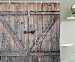 Shower Curtain Door Barn Door Shower Curtain