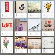 Small Easel Desk Calendar Loose Leaf 2013 Graffiti Desk Calendar With Mini Easel By