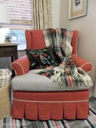 Striped Slipcovers For Sofas Red Chair Blue Stripe 5 Jpg