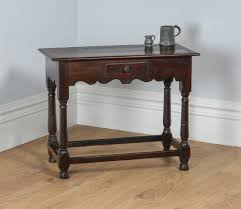 georgian 18th century style english country oak side hall table